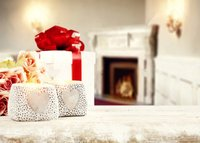 Valentine S Day Love Heart Gift Flower Fireplace Light Bokeh Backdrop Vinyl Cloth High Quality Computer