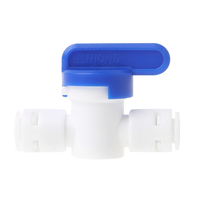 цены Equal Straight 1/4'' OD Hose Quick Connector Ball Valve RO Water Filter Kitchen