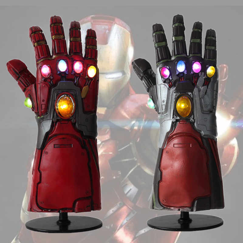 NUOVA Luce Led Iron Man Guanto di Sfida Endgame Cosplay Braccio Thanos Gauntlet Guanti In Lattice Braccia Supereroe Arma Props