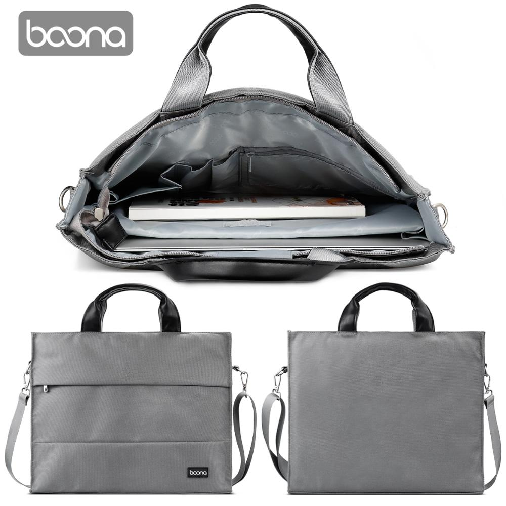 Boona Laptop Bag 15.6 Inch Notebook Bag with Shoulder Strap For Macbook Air Pro Dell Asus HP Acer Laptop Case