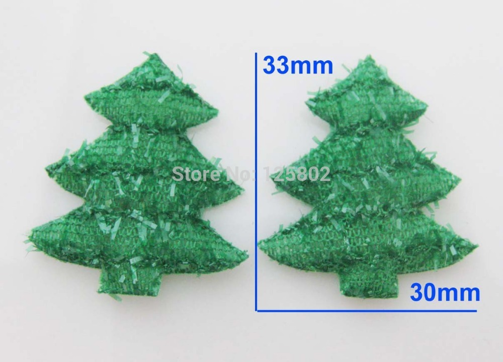 Green Non-weave Patch PS023 Padded Felt Appliques For Sewing Supplies 50pcs Christmas Accessories ...