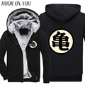 2017 Winter Fashion Men Tops Printed Comfortable Fleece Anime Dragon Ball Z Master Roshi Thichen Hoodie Casual Goku Thermal Coat