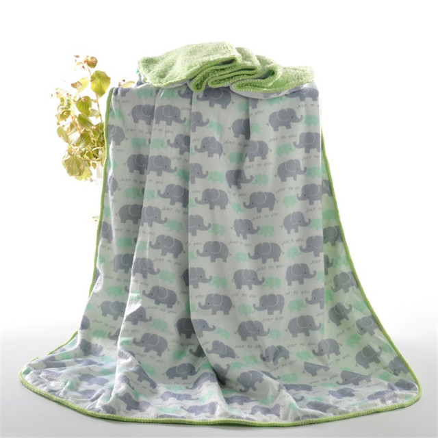 Baby Blanket New Thicken Coral Fleece Super Soft Double Layer Infant Swaddle Envelope Stroller Wrap Newborn Bebe Bedding Blanket