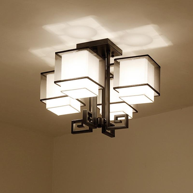 Dia.54cm Modern Black Fabric Lampshade Ceiling Light