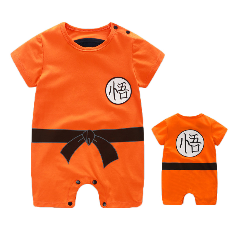 YiErYing Baby Clothes 2018 New Newborn   Rompers   Dragon Ball Summer Cartoon Print Short Sleeve Cotton Baby jumpsuit Costume