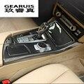 Автомобильный Стайлинг из углеродного волокна мультимедийный держатель для стакана воды Шестерня панель Чехлы наклейки Накладка для BMW 5 с...