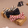 5 unids/lote Algodón Poliéster Pajarita Bowtie de la Boda para Hombres Señores Negocios Inglaterra Plaid Corbata de Rayas