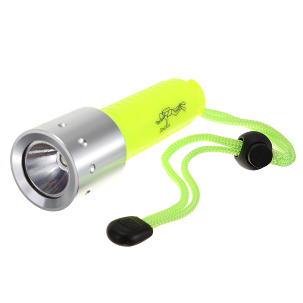 Waterproof Plastic& Aluminum alloy underwater Dive Flashlight Dive Torch Strong light lamp for diving XML-T6 LED Light yellow