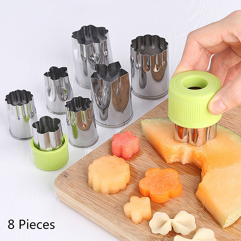 Stainless Steel Cake Moulds Tools Vegetable Cutters Set Cookie Cutter Flower for Customizing Kids Food Fruit Shape Mold