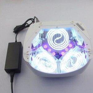 Image 3 - LKE 60W suszarka do paznokci CCFL LED UV lampa do paznokci szybkoschnący żel polski Auto lampa indukcyjna maszyna do Manicure Salon narzędzia do paznokci