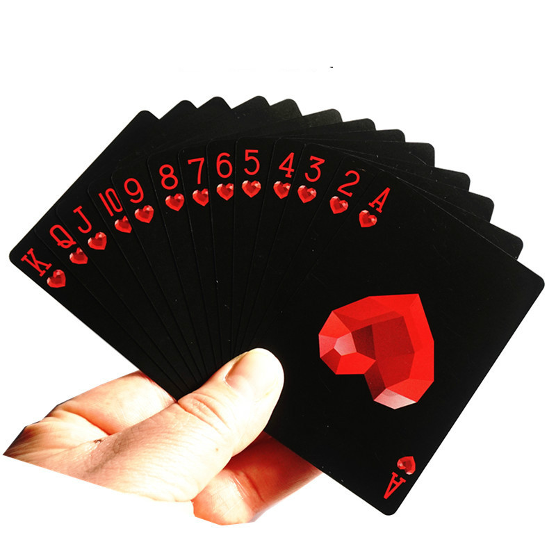 1pcs Black Plastic Poker Cards Waterproof Creative Collection Personality