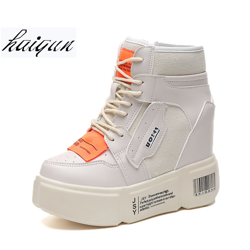 Spring Fashion High help Sneakers Women Lace Up Breathable Trainers Women Platform Shoes Tenis Feminino Casual Shoes Women smile circle spring autumn women shoes casual sneakers for women fashion lace up flat platform shoes thick bottom sneakers