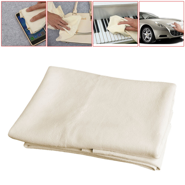 Natural Shammy Chamois Leather Car Cleaning Towels Drying Washing Cloth Maintenance Tools New