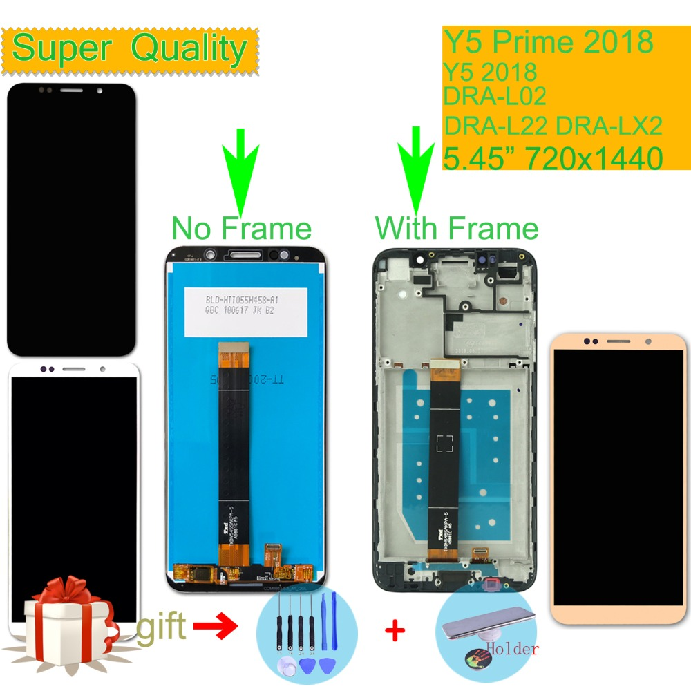 ORIGINAL For Huawei Y5 Prime 2018 DRA L02 DRA L22 DRA LX2 LCD Display Touch Screen Assembly With Frame Y5 2018 LCD Digitizer in Mobile Phone LCD Screens from Cellphones Telecommunications