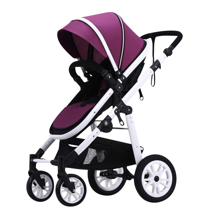 Stroller high landscape can sit lie four bidirectional shock deck bb baby child trolley Lift baby stroller high landscape four wheel shock cart can sit can lie