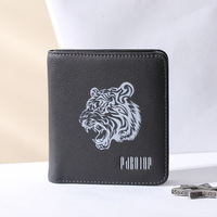 Animal prints purse genuine leather Pabojoe brand Men short wallet cow leather carteira fashion 2018 new free shipping