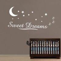 D122 Sweet Dreams Wall Stickers Cita Bambini Nursery Decor Decalcomania di Arte Murale Del Vinile Autoadesivi home decor
