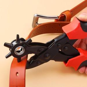 Image 2 - חדש כבד החובה רצועת עור חור אגרוף יד Plier חגורת אגרוף מסתובבת DIY כלים HG99