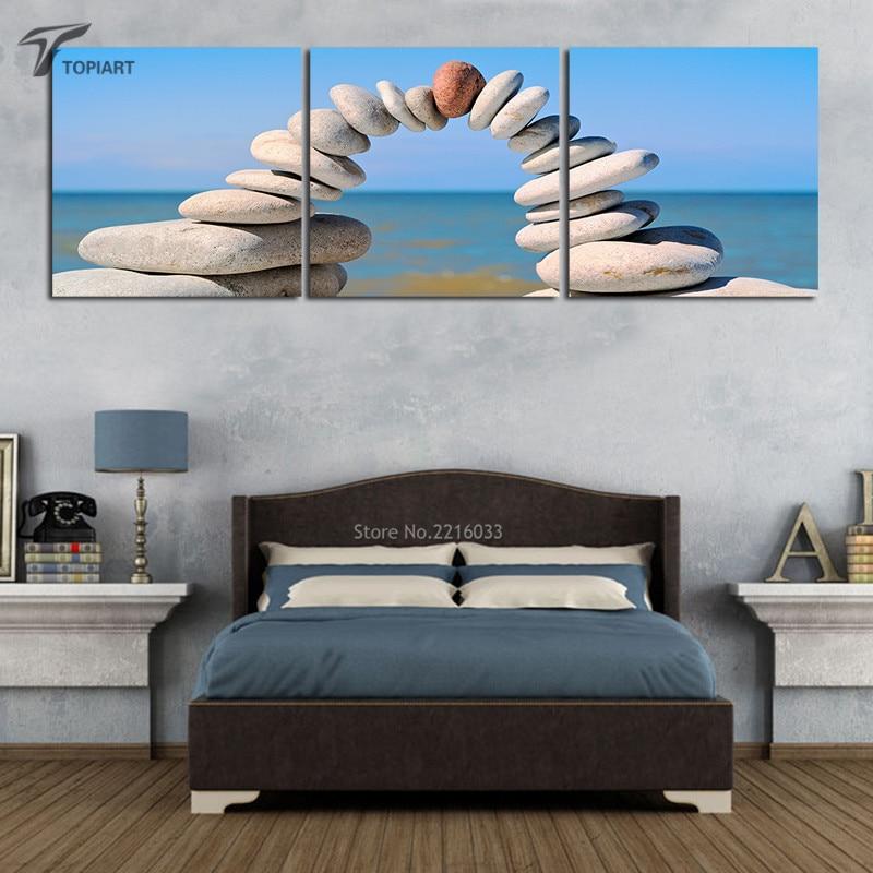 ᗚModerno Decoración para el hogar paisaje marino playa arte piedra ...