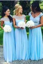 2017 Elegant Turquoise Bridesmaid Dress New Arrival A-line Pearls Tulle Open Back Long Cheap Bridesmaid Dresses