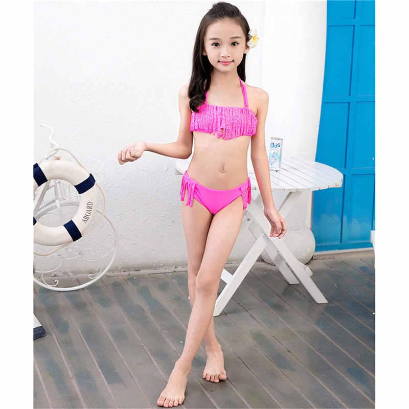65fea296c5c2 Inventario liquidación chica Bikini Split Swimsuit Nylon Spandex niños  traje de baño niñas Bikini Set traje de baño traje de sexo 7-16 años