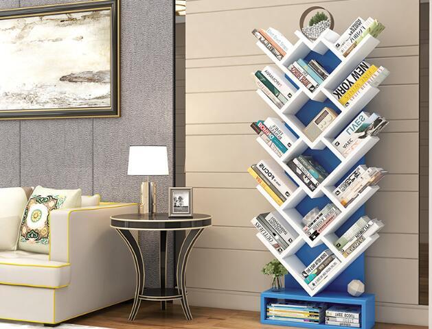 150 CM Boom Vorm Boek Plank Studeerkamer Boekenkast Hout Opbergrek - 4