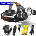 8000LM Lumen LED Lighting Head Lamp T6 Headlight Hunting Camping Fishing Light XML T6 Power bank Rechargeable 18650 Battery