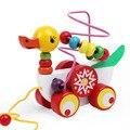 Contas De Madeira da Forma Do Carro Pato Crianças Bebê Educacional Da Primeira Infância Brinquedos Diecasts Veículos ZS053