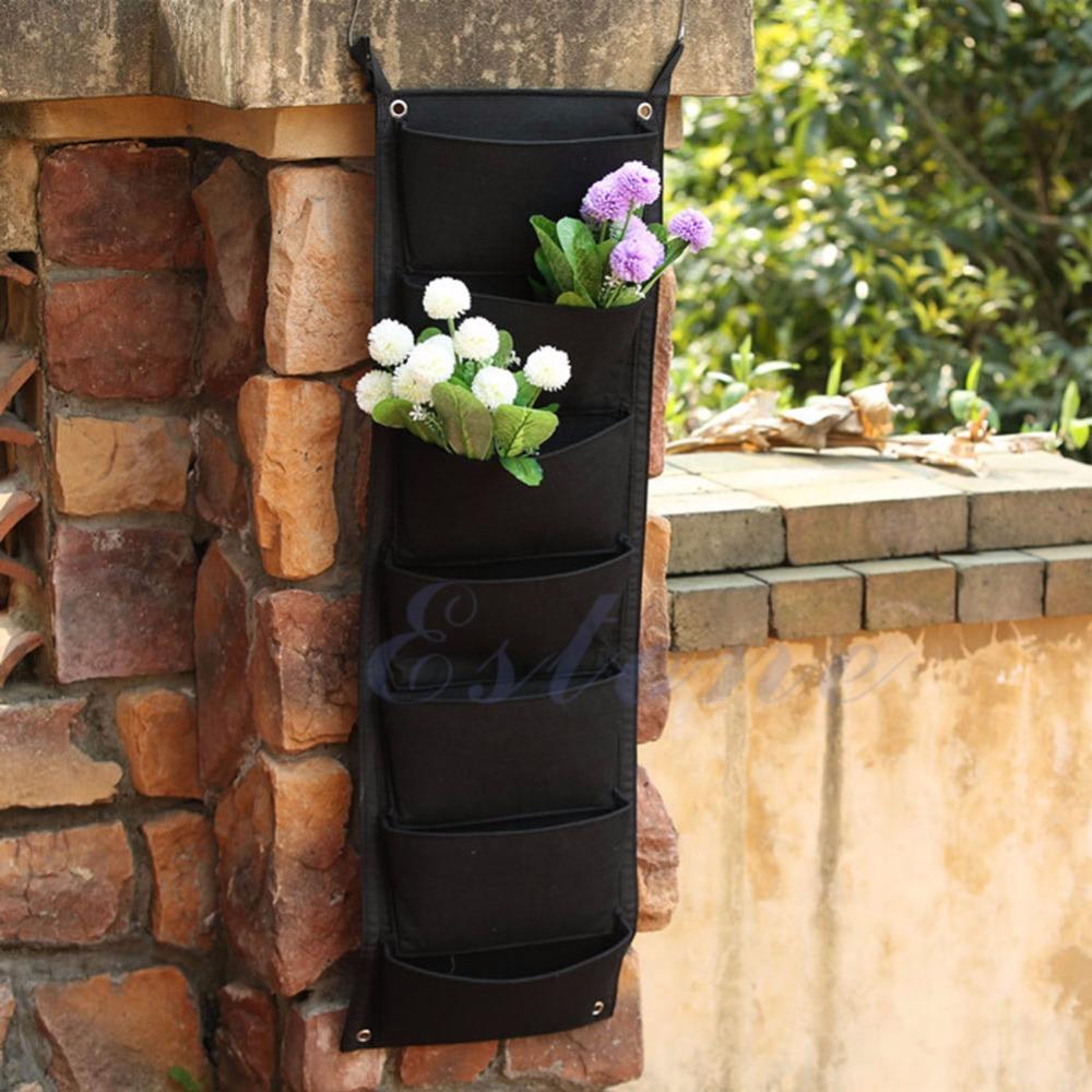 7 poche intérieur mur extérieur balcon herbes vertical jardin suspendu planteur sac k400y