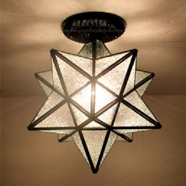 Tiffany Star creative personality living room ceiling lamps restaurant bar corridor entrance balcony windows simple vintage ceiling lamps american style copper lamps ceiling light personality simple country balcony lamp home lighting corridor