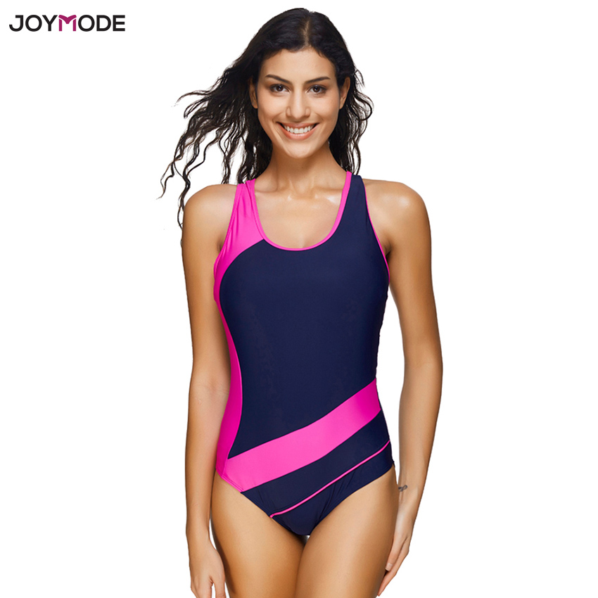 colours and striking united states new high US $13.99 30% OFF|JOYMODE One Piece Jumpsuit Women Vest Swimsuit Push Up  Vest Beach Swimwear Patchwork Sporty Bathing Suit Maillot De Bain Femme-in  ...