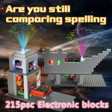 215pcs Electronic Building Blocks Science Kids Toys Assembled Bricks Toy Circuits Educational DIY Science Toy Gift