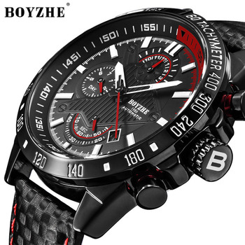 Watches Men Fashion Sport Watch Automatic Mechanical Watch Stainless Steel Waterproof Business BOYZHE Men's Watches Dropshipping