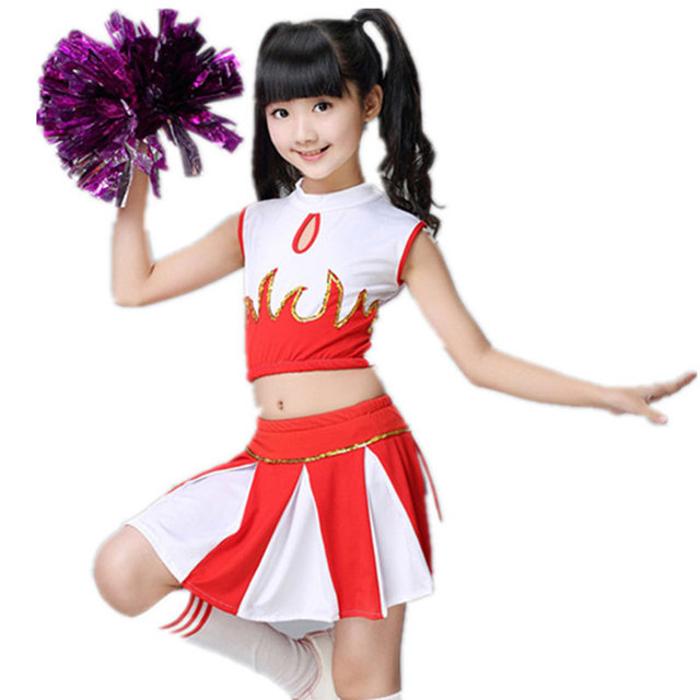 Children Cheerleaders Girl School Team Uniforms Kid Graduation Kids  Performance Costumes Sets Girls Class Suit Girl 8604bdb8a