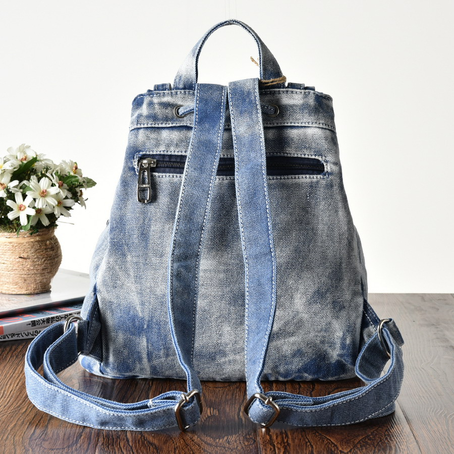 Daypacks Great Diamants Jeans Dos Karen La Rivets Black Baiser Denim super Voyage Dames À Sacs Cowboy Sac Mode Causal Femmes Blue 7PxwznzT