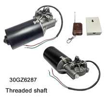 цена на 30GZ6287 DC Door Motor 24V 50RPM DC Left & Right Angle Reversible Electric Gear Motor for BBQ with Threaded Shaft