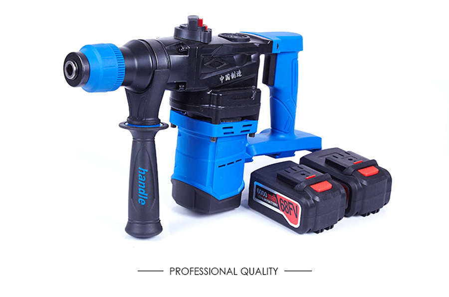 HTB1 Q9CagMPMeJjy1Xcq6xpppXaa - 5000 10000mAh Heavy Wall Hammer Cordless Drill Rechargeable Lithium Battery Multifunctional Electric Hammer Impact Drill