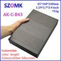 1 шт., 45*240*160 мм горячие продажи электрической алюминиевый корпус amplfier экструдированного алюминиевая коробка питания случай проекта