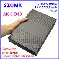 1 piece, 45*240*160mm hot sales electrical aluminum enclosure amplfier extruded box aluminum power supply project case
