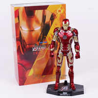 Hot Toys Avengers Iron Man Mark XLIII MK 43 with LED Light PVC Action Figure Collectible Model Toy 30cm