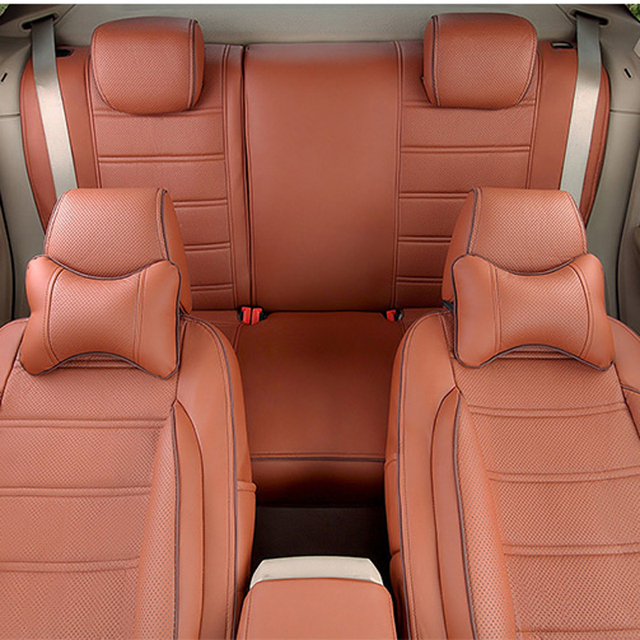 CARTAILOR Auto Seat Supports for Ford Explorer 2016 2015 2013 Seat Covers Accessories Set PU Leather Cushion Cover for Car Seats