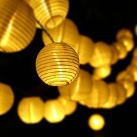 6M 30 LEDs Outdoor Lighting Lantern Ball Solar String Lights Fairy Globe Wedding Party Holiday Christmas
