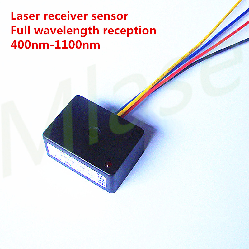 5-12V Input Laser Receiver Sensor Full Wavelength Reception 400nm-1100nm Room Escape Photo Detector/Laser Counting