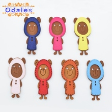 12Pcs Homemade Korean Velvet Fabric Bear Patches for Headwear Appliques Baby Girl Sandals Garment Accessories DIY Craft BB Clips