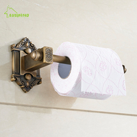 Bathroom Lavatory Rolling Toilet Paper Holder Antique Brass Toilet Roll Holder Wall Mount Bathroom Accessories