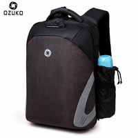 OZUKO Fashion Men Backpack Casual Multifunction USB Charge 15 6 Laptop Backpacks Password Lock Anti Theft