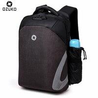 OZUKO Fashion Men Backpack Casual Multifunction USB Charge 15 6 Laptop Backpacks Password Lock Anti Theft