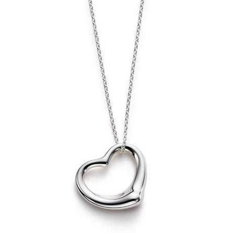 Dainty XS015 Atacado Bonito Brilhante Em Forma de Coração Pêssego Pingente de Coração Clavícula Cadeia Colar de Jóias de Casamento Casal AMOR Collier