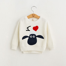 New 2016 Baby Girls Crochet Cartoon Sweaters Kids Girls Knit Pullover Girl Spring Autumn Jumper Tops Babies Wholesale Clothing