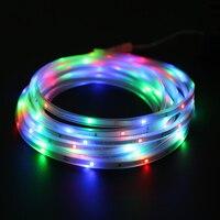 Waterproof 5M 20LED Solar Power LED String Fairy Lights with Tube Festival Light Outdoor Lighting For Christmas Wedding Decor
